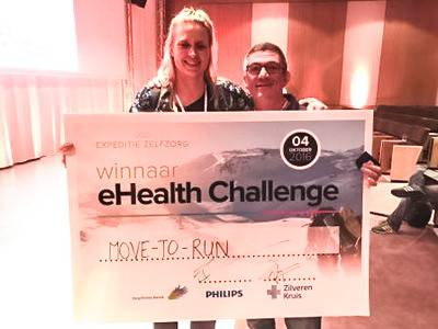 Move-to-run wint e-health challenge Expeditie Zelfzorg