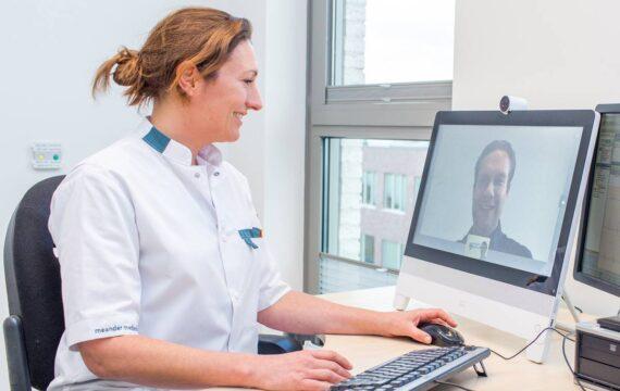 Videobutler helpt Patiënten Meander Amersfoort bij videoconsult