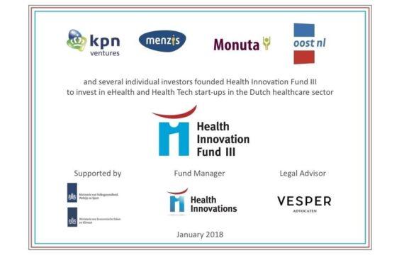 KPN's Ventures, Menzis, Monuta, Topfonds Gelderland en Oost NL willen met een nieuw investeringsfonds e-health startups ondersteunen.