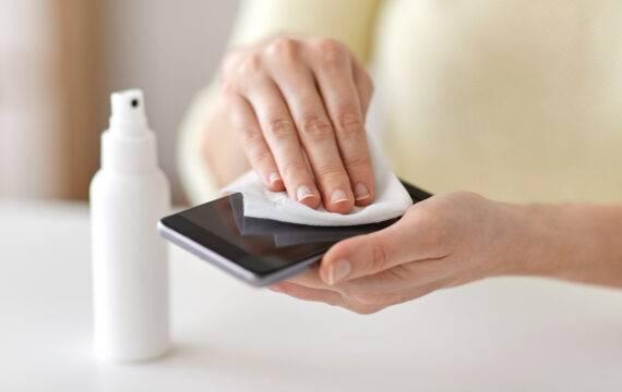 Risico op besmetting door smartphone of tablet